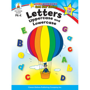Letters: Uppercase And Lowercase (Pk - K) Home Workbook - Gold Star Edition