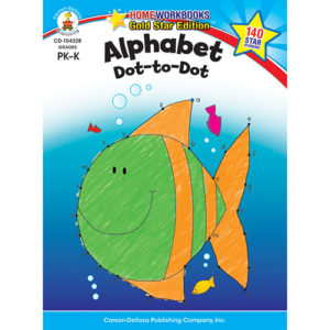 Alphabet Dot-To-Dot (Pk - K) Home Workbook - Gold Star Edition