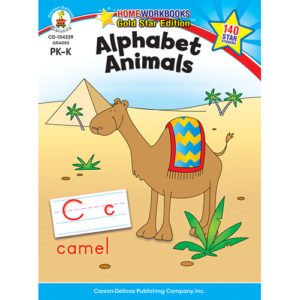 Alphabet Animals (Pk - K) Home Workbook - Gold Star Edition