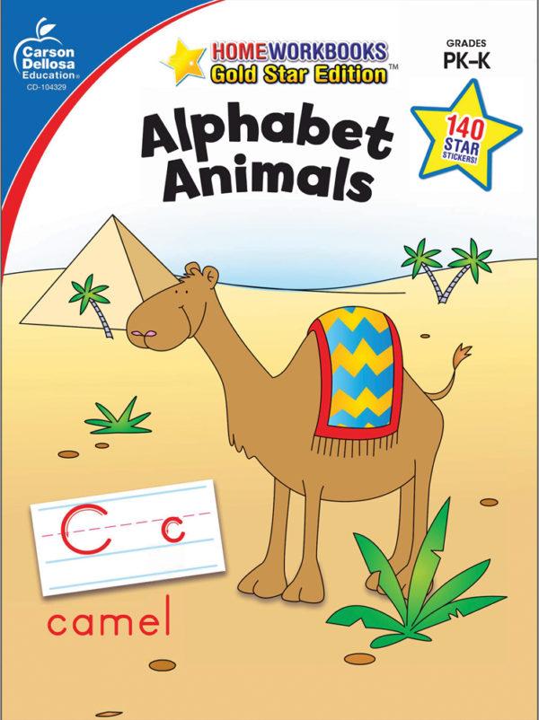 Alphabet Animals (Pk - K) Home Workbook - Gold Star Edition