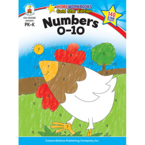 Numbers 0 - 10 (Pk - K) Home Workbook - Gold Star Edition