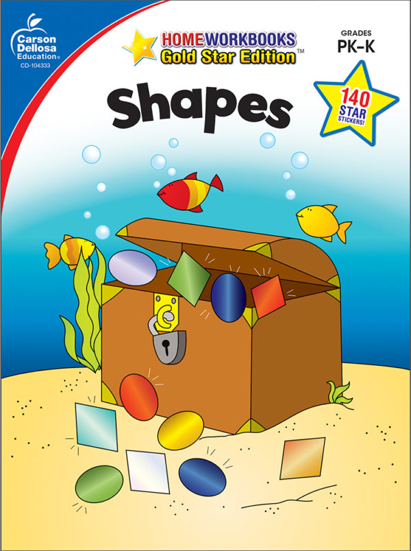 Shapes (Pk - K) Home Workbook - Gold Star Edition