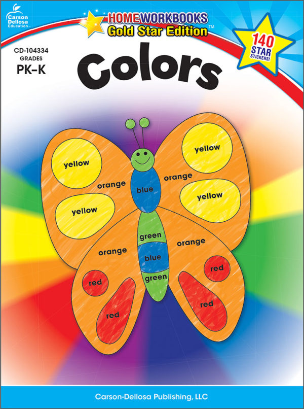 Colors (Pk - K) Home Workbook - Gold Star Edition