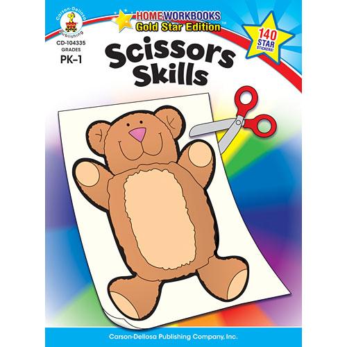 Scissors Skills (Pk - 1) Home Workbook - Gold Star Edition