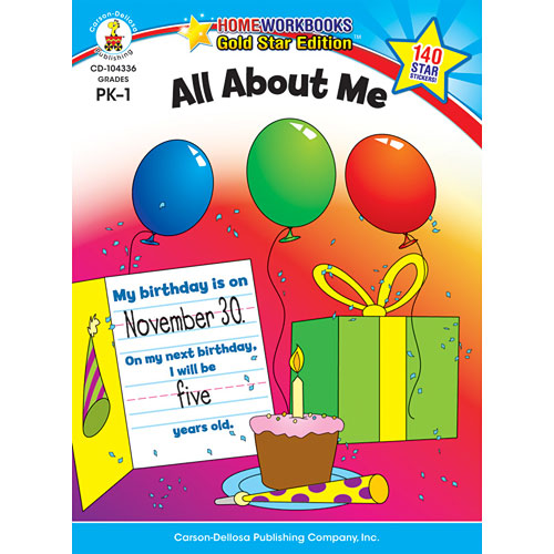 All About Me (Pk - 1) Home Workbook - Gold Star Edition