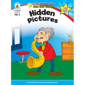 Hidden Pictures (Pk - 1) Home Workbook - Gold Star Edition