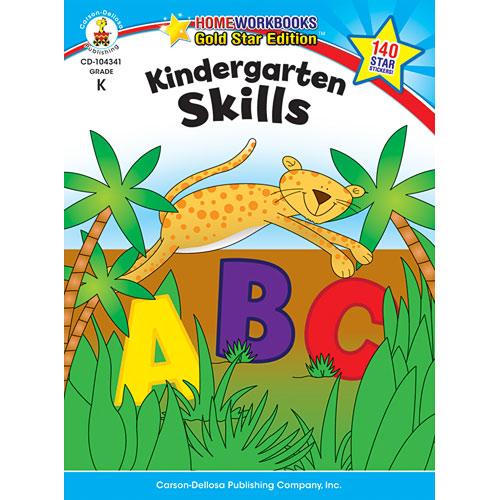 Kindergarten Skills Home Workbook - Gold Star Edition