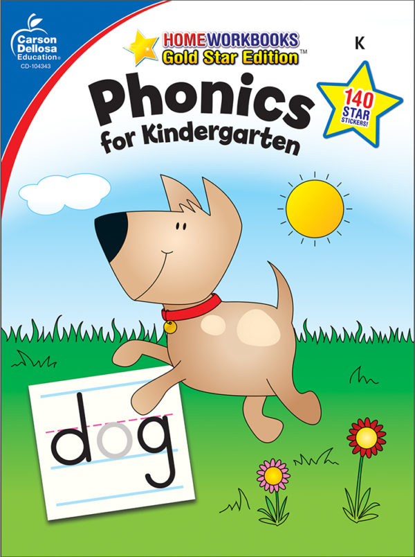 Phonics For Kindergarten Home Workbook - Gold Star Edition