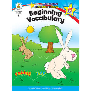 Beginning Vocabulary (K) Home Workbook - Gold Star Edition