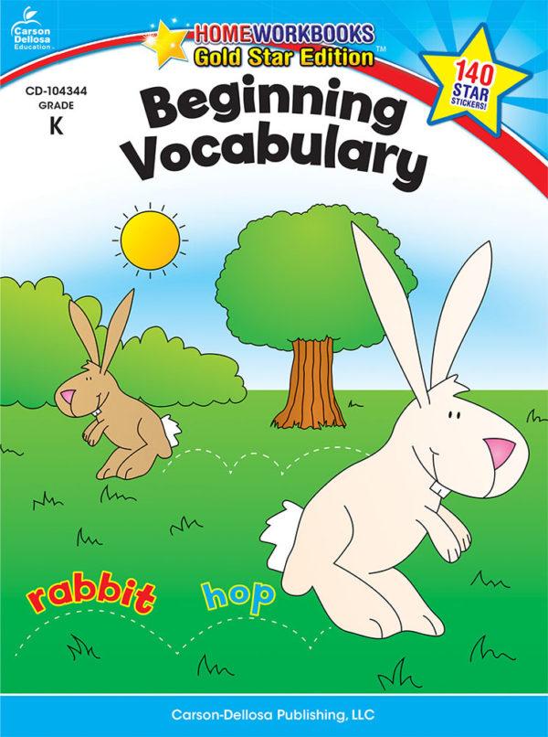 Beginning Vocabulary (K) Home Workbook - Gold Star Edition