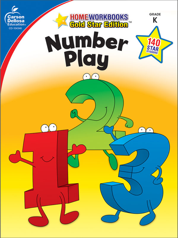 Number Play (K) Home Workbook - Gold Star Edition