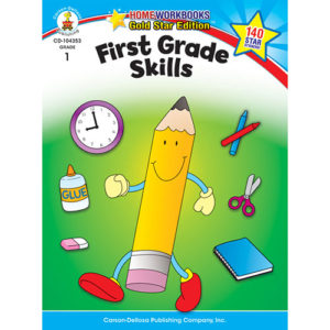 First Grade Skills Home Workbook - Gold Star Edition