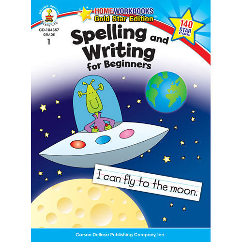 Spelling And Writing For Beginners (1) Home Workbook - Gold Star Edition