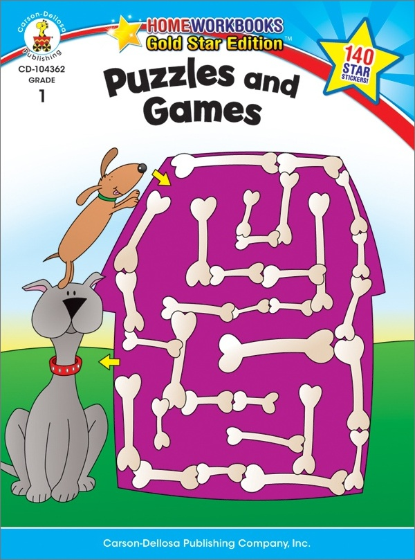 Puzzles And Games (1) Home Workbook - Gold Star Edition