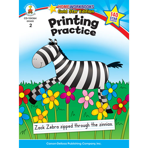 Printing Practice (2) Home Workbook - Gold Star Edition