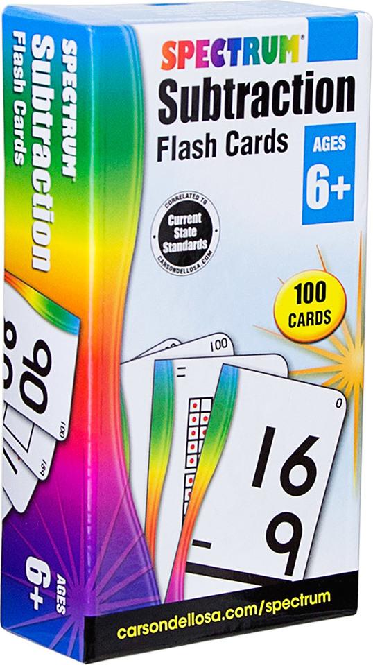 Spectrum Subtraction Flash Cards (Ages 6+)