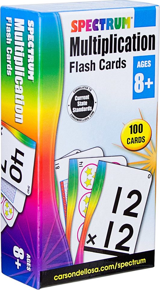 Spectrum Multiplication Flash Cards (Ages 8+)