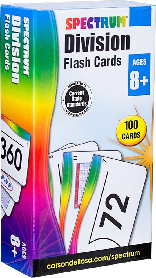 Spectrum Division Flash Cards (Ages 8+)