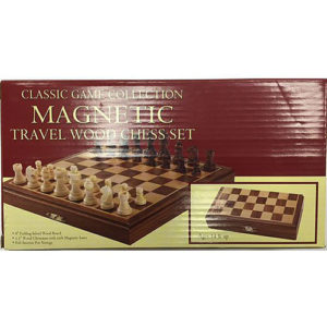 Travel Magnetic Wood Chess Set, 8""