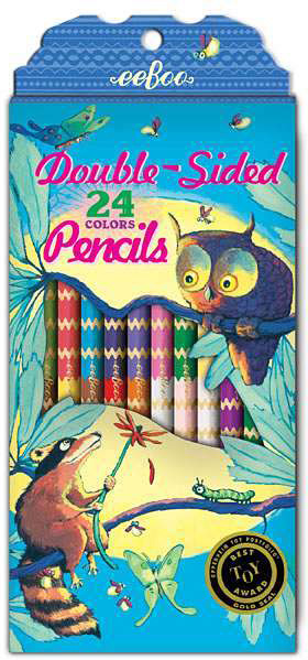 Raccoon and Owl 12 Double-Sided Pencils