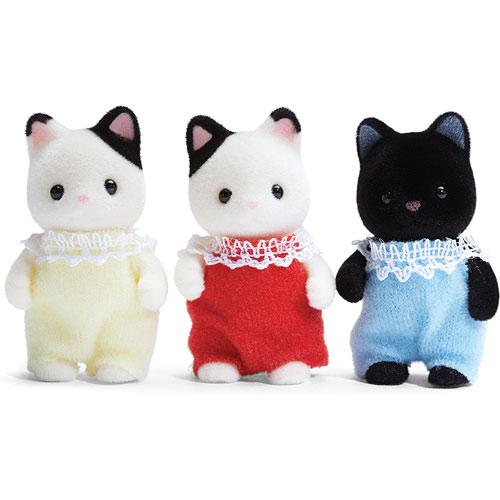 Tuxedo Cat Triplets