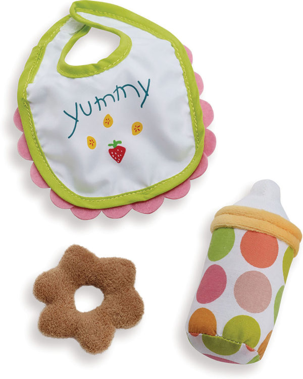 Wee Baby Stella Feeding Set (Bib, Bottle, Teething Biscuit)