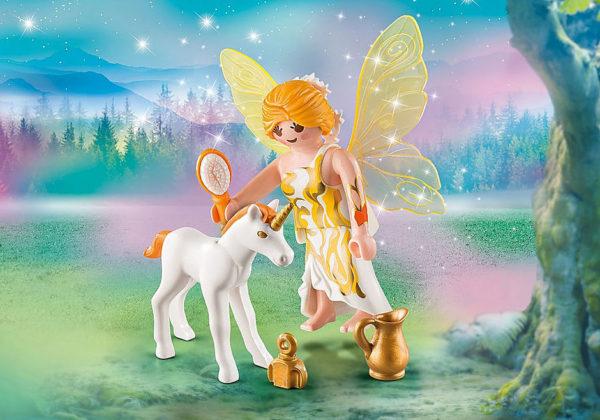 Sun Fairy With Unicorn Foal