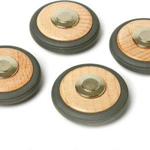 Tegu Magnetic Wooden Wheels - Pack of 4