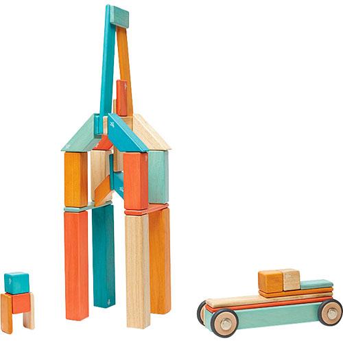 Tegu Magnetic Wooden Blocks Sunset 42 pc set