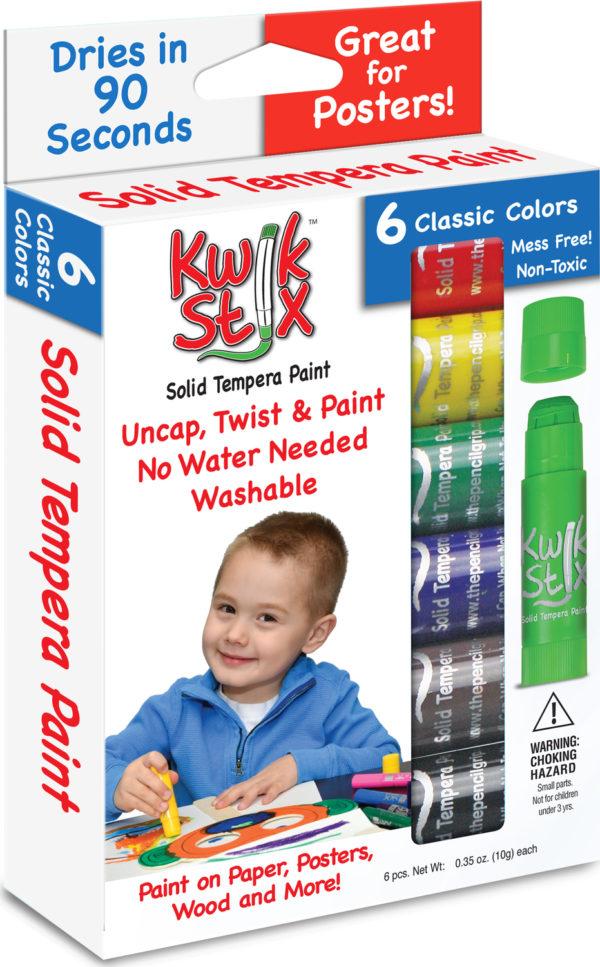KwikStix Tempera Paint - 6 Classic Colors