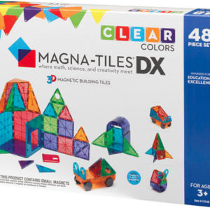 Magna-Tiles Clear Colors 48 Piece Dx Set